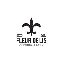 Fleur De Lis Logo Design For Apparel Business