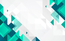 Green Colored Abstract Flat Background With Geometric Shapes Vector