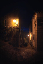 Ancient Village At Night