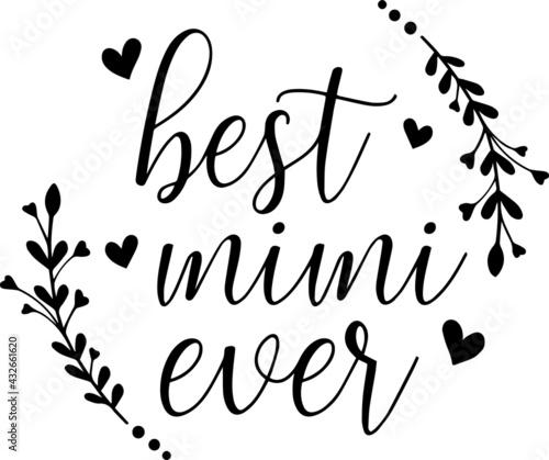 Valokuva best mimi ever logo inspirational positive quotes, motivational, typography, let