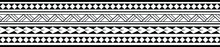Maori Polynesian Tattoo Bracelet. Tribal Sleeve Seamless Pattern Vector.