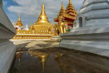 Model Of Shwedagon Pagoda, Khlong Hae Temple, Khlong Hae Sub-district, Hat Yai District, Songkhla, Thailand.