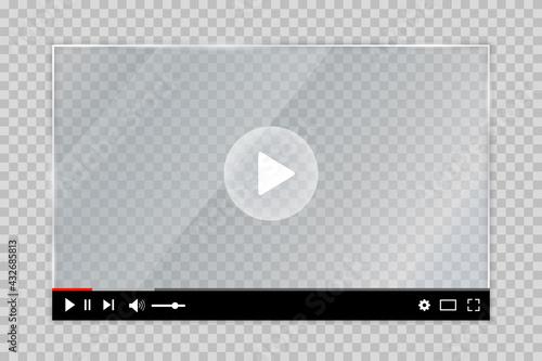 Canvas Print Web video player