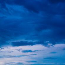 Dark Blue Sky Evening After Rain