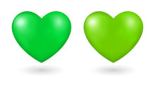 Green Heart 3d Icon