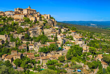 Picturesque Old Mediterranean Village With Rustic Houses, Gordes, Provence, France