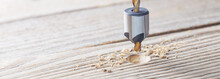 Countersink Drill Bit Make Sink In Hole For Screw In Old Wooden Plank
