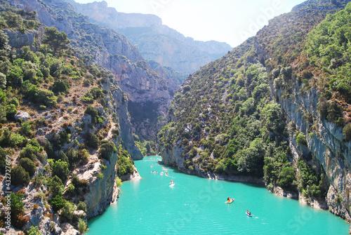 Obraz na plátně Lac de Sainte Croix-Provence-Alpes-Côte d'Azur