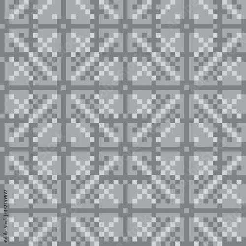Canvas-taulu Black and White Christmas Fair Isle Seamless Pattern Background