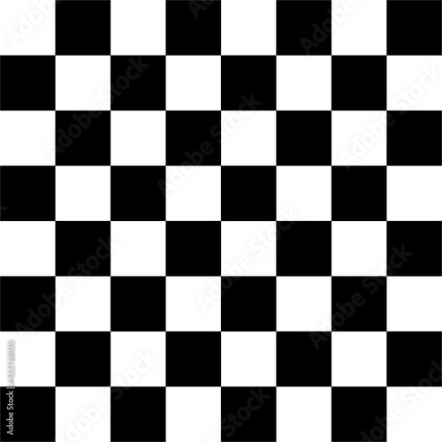 Tela CHESSBOARD AND CHECKERBOARD BLACK AND WHITE SQUARES