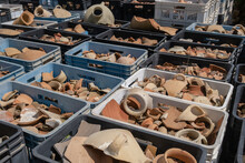 Remains Of Ancient Clay Jugs Found In Archaeological Excavations