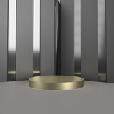 luxury podium product display mock up background, template for advertising product, 3d rendering.