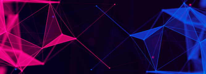 Digital technology background. Network connection dots and lines. Futuristic background for presentation design. 3d