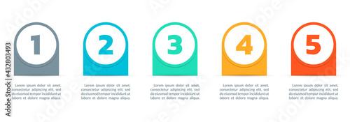 Fotografia 5 steps infograph