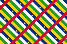 Simple Geometric Pattern In The Colors Of The National Flag Of Central African Republic