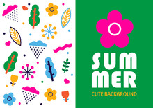 Summer Poster In Scandinavian Style. Can Be Used In Textile Industry, Paper, Background, Scrapbooking.