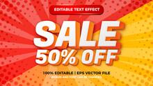 Super Sale Editable Text Style Effect Illustrator. Vector Design Template