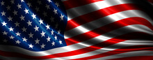 USA Flag Background Design With Copy Space 3D Illustration