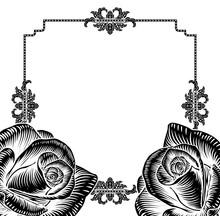 Rose Flower Funeral Wedding Invite Background