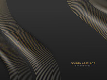 Abstract Background With Curved Wavy Lines.