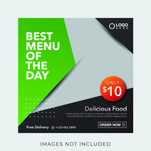 Food Culinary Menu Banner For Social Media Post Template