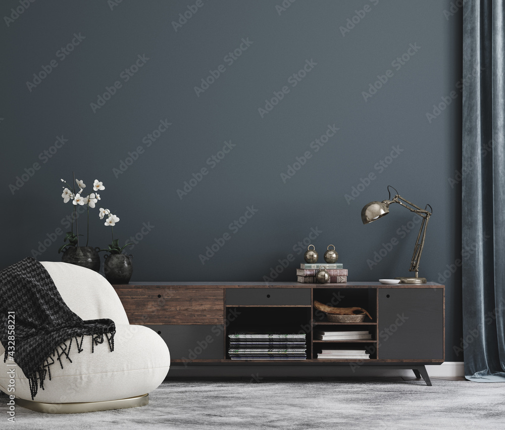 Leinwandbild Motiv - artjafara : Home mockup, modern interior background, 3d render