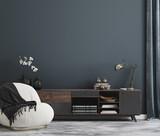 Home mockup, modern interior background, 3d render - 432858221
