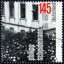 Postage Stamp Germany 2015 Philipp Scheidemann, German Politician