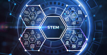 Science, Technology, Engineering And Math. STEM Concept. Business, Technology, Internet And Network Concept.