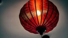 Red Lantern Lit Up.