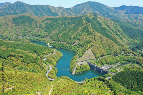 Billede på lærred 高知県宿毛市 どんぐり湖
