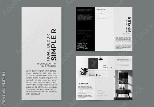 Minimal Furniture Shop Brochure Template - fototapety na wymiar