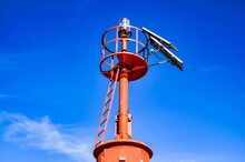 The Red Steel Lighthouse Near Sottomarina Venice