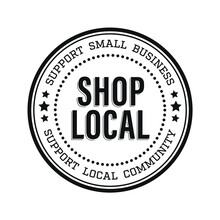Shop Local Small Business Icon Stamp