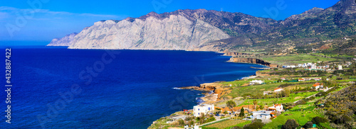 Canvas Nature landscape and  beauty of Crete island. Greece