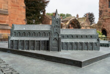 Bronze Model Of Carlisle Cathedral Priory Buildings, In The City Of Carlisle, Cumbria, UK