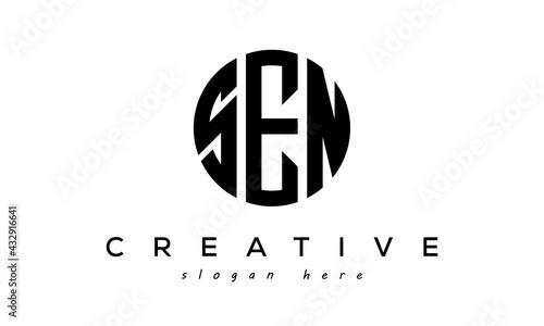 Fototapeta  Letters SEN creative circle logo design vector obraz