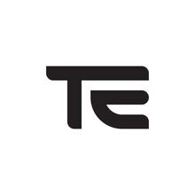 Te Initial Letter Vector Logo