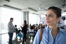 Ambitious, Confident, Forward Looking Businesswoman At Conference