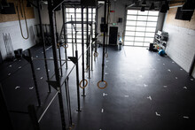 Equipment In Empty Cross Training Gym