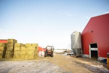 Red Barn On Dairy Farm