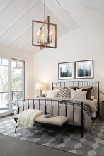 Luxury Home Showcase Interior Master Bedroom With Vaulted Ceiling