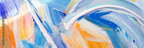 Fotografia Abstract colorful oil painting closeup