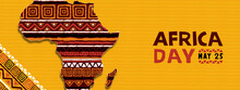Africa Day Tribal Ethnic Art African Map Banner