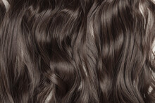 Single Piece Of Clip In Wavy Brown Synthetic Hair Extensions