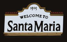 Welcome Sign At Santa Maria, California