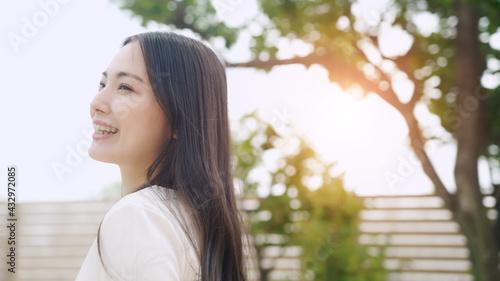 Fototapeta さわやかな女性の美容イメージ ヘアケア obraz