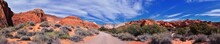 Padre Canyon, Snow Canyon State Park, Saddleback Tuacahn Desert Hiking Trail Landscape Panorama Views, Cliffs National Conservation Area Wilderness, St George, Utah, United States. USA.