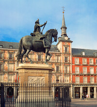 Statue Of King Charles Iv In Plaza Mayor, Madrid