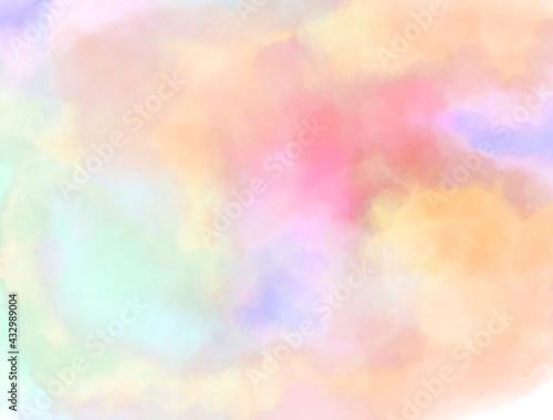 Fototapeta 水彩の滲み 暖色 背景 obraz